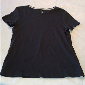 Croft & Barrow classic black T-shirt medium